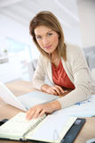 Saleswoman working from home Royalty Free Stock Photo