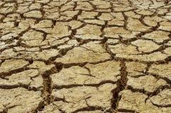 Saleté criquée sèche de sol pendant la sécheresse Images libres de droits