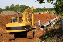 Saleté de creusement Image libre de droits