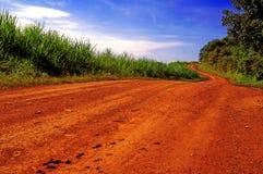Saleté-piste africaine. Image libre de droits