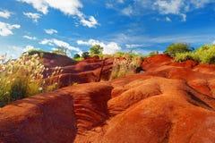 Saleté rouge célèbre de canyon de Waimea dans Kauai Image libre de droits