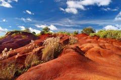 Saleté rouge célèbre de canyon de Waimea dans Kauai Photographie stock libre de droits