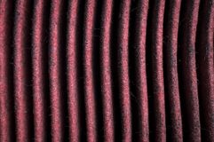 Saleté sur les éléments de filtre à air de moteur image stock