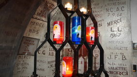 Salette chapel detail. Salette Chapel in Sete France royalty free stock photography