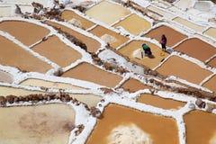 Salez le champ dans Cuzco près de la vallée sacrée, Pérou photos libres de droits