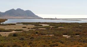 Salez les appartements (salines de Las) près de Cabo de Gata Image stock