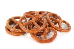 Salez les pretzels photographie stock
