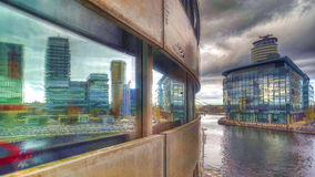 Salford kaj-/massmediastad från lowry mitt Fotografering för Bildbyråer
