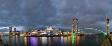 Salford kajer, större Manchester, England Fotografering för Bildbyråer