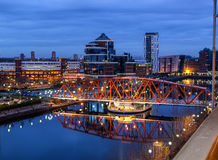 Salford Quays Aerial View Royalty Free Stock Image