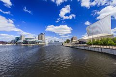 Salford Quays, Manchester, England. Royalty Free Stock Image