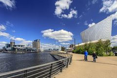 Salford Quays, Manchester, England. Stock Image
