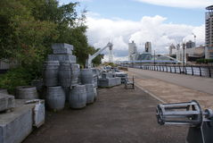 Salford Quays Cargo Royalty Free Stock Images