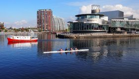 Salford Quays, Greater Manchester UK Stock Images