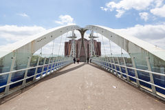 The Salford Quays lift bridge. royalty free stock photos