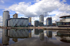 Salford Quays in Manchester Royalty Free Stock Photography