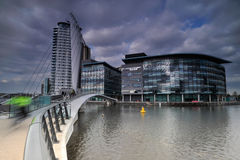 Salford Quays in Manchester Stock Image