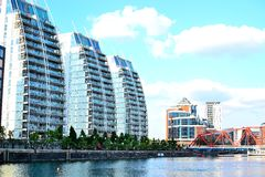 Salford quays, Manchester, UK Stock Photo