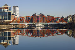 Salford Quays - Manchester - United Kingdom. Salford Quays redevelopment in Greater Manchester in the United Kingdom royalty free stock image