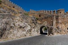 Salga de la fortaleza de piedra antigua hermosa Fotografía de archivo libre de regalías
