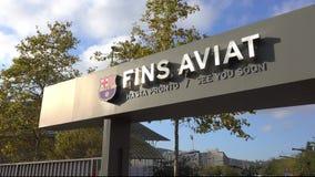Salga del FC Barcelona de Camp Nou metrajes