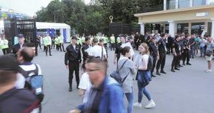 Salga el estadio y la policía metrajes