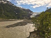 Salga el glaciar, Alaska fotografía de archivo