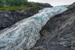 Salga el glaciar en Seward en Alaska los Estados Unidos de América Foto de archivo libre de regalías