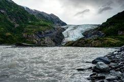 Salga el glaciar en Seward en Alaska los Estados Unidos de América Imagenes de archivo