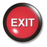 Salga el orbe del botón Imagen de archivo libre de regalías