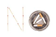 Salga la imagen antifumador rendida Smoking Fotos de archivo libres de regalías