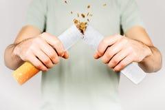 Salga la imagen antifumador rendida Smoking fotografía de archivo