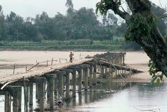 Salga la rampa en un puente a en ninguna parte Imagen de archivo