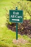 Salga todos los coches fotografía de archivo libre de regalías