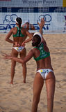 Salgados sisters Phuket 2010. Photo could be used to cover story about recent event in Phuket http://www.fivb.ch/EN/BeachVolleyball/Competitions/WorldTour/2010/ Royalty Free Stock Photo