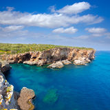 SAlgar beach Cala Rafalet in Menorca at Balearic Islands Stock Images