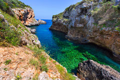 SAlgar beach Cala Rafalet in Menorca at Balearic Islands Stock Photography
