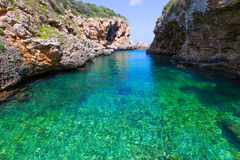 SAlgar beach Cala Rafalet in Menorca at Balearic Islands Royalty Free Stock Image