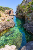 SAlgar beach Cala Rafalet in Menorca at Balearic Islands Stock Image