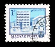 Salgotarjan, serie das arquiteturas da cidade, cerca de 1972 foto de stock
