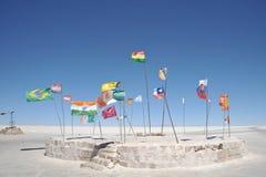 Salgue o hotel para turistas nos planos de sal de Uyuni Imagens de Stock Royalty Free