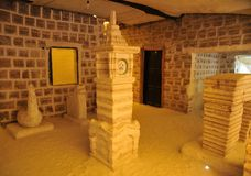 Salgue o hotel para turistas nos planos de sal de Uyuni Fotografia de Stock Royalty Free