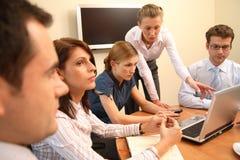 Saliência da mulher no negócio Fotografia de Stock