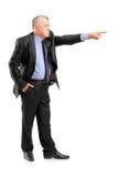 Saliência irritada que despede um empregado Fotografia de Stock