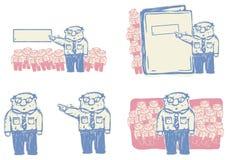 Saliência que dá a ilustração dos pedidos ilustração do vetor