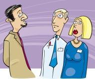 Saliência que fala aos empregados ilustração do vetor