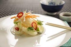 Sali & calamaro del pepe con il yuzu & il wasabi Fotografia Stock Libera da Diritti