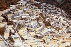 Sali il campo in Cuzco vicino alla valle sacra, Perù Fotografie Stock