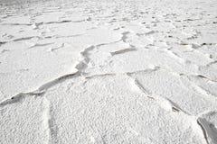 Sali la crosta nella riva della laguna e del lago di sale Tuyajto nel altiplano cileno Fotografia Stock Libera da Diritti