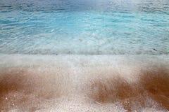 Saliara Beach (called Marble Beach), beautiful white beach in Thassos island, Greece Stock Photo
